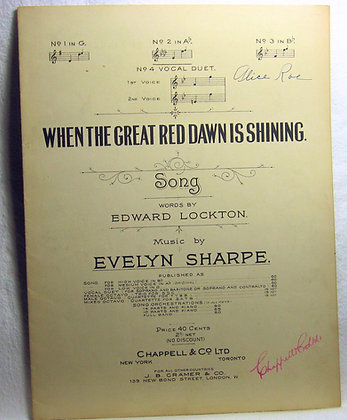 WHEN THE GREAT RED DAWN IS SHINING Song 1917