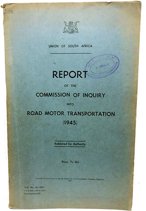 South African Motor Transportation 1945