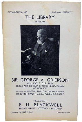 No. 483 Library of George A. Grierson