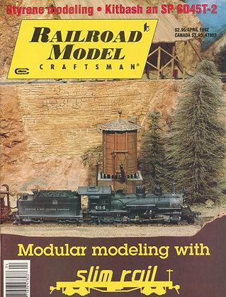 Railroad Model Craftsman, April 1992