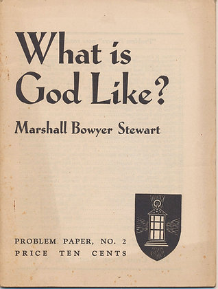 What is God Like?  Problem Paper #2