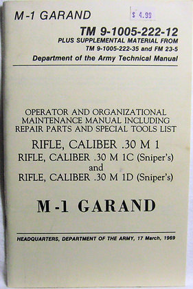 TM 9-1005-222-12 Army Manual 1969