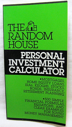 Personal Investment CALCULATOR (The Random House)