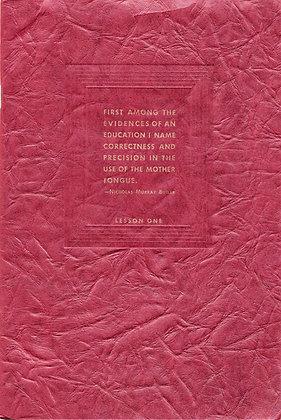 PRACTICAL ENGLISH & Effective Speech (Lesson One) Estelle B. Hunter 1935