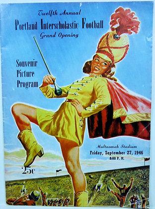 Twelfth Annual PORTLAND Interscholastic (Football) Program 1946