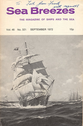 British - SEA BREEZES - Ships & the Sea (Sept. 1972)