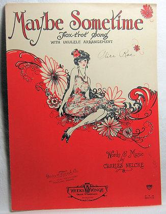 MAYBE SOMETIME Fox Trot Song (Ukulele) 1926