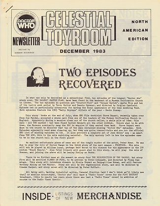 Celestial Toyroom Doctor Who December 1983