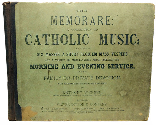 Memorare Collection Catholic Music 1885