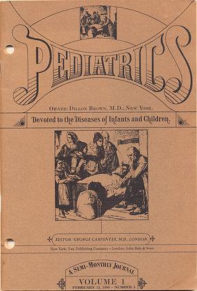 Pediatrics Vol #1 February 15, 1896