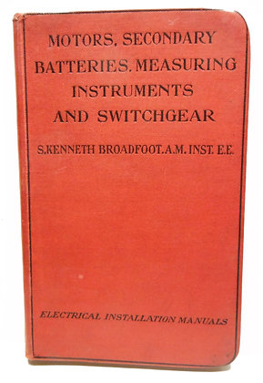 Motors, Batteries, Measuring Inst. 1911