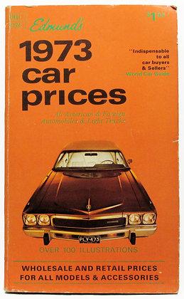 Edmund's 1973 Car Prices (DELL 2326)