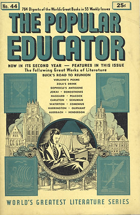 POPULAR EDUCATOR (#44, Second Year, 1940) BUCK'S ROAD TO REUNION