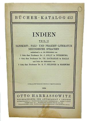 Bucher Katalog #453 Indien 1934 (German)