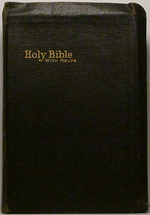 THE HOLY BIBLE (Leather) Old & New Testaments International w/Helps (ca 1930s)