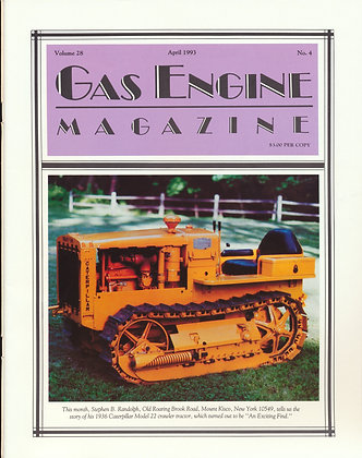 Gas Engine Mag.  April 1993