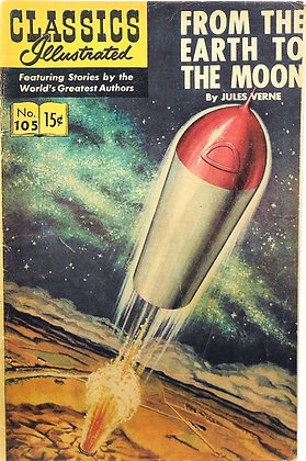 FROM THE EARTH TO THE MOON, No. 105, Jules Verne 1965