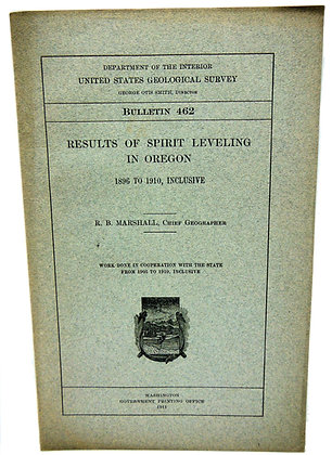 Spirit Leveling Oregon Geological 1911