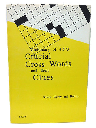 DICTIONARY of 4,573 Crucial Cross Words & their Clues 1987