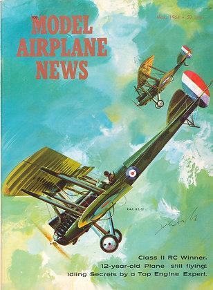 "Model Airplane News (May 1964) ""RAF B.E.12"""