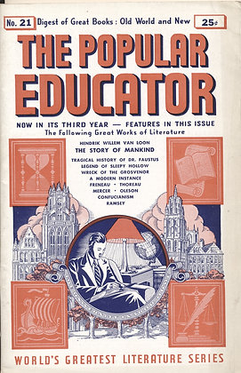 POPULAR EDUCATOR (#21, Third Year, 1940) THE STORY OF MANKIND