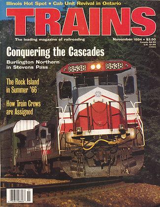 TRAINS, November 1994