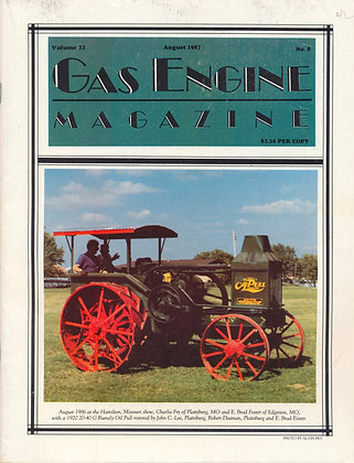 Gas Engine Mag.  August 1987