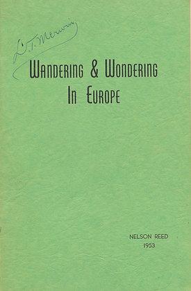 Wandering & Wondering in Europe 1953 (signed)