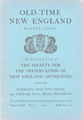 Old-Time New England Winter 1952