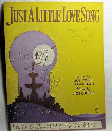 JUST A LITTLE LOVE SONG 1922