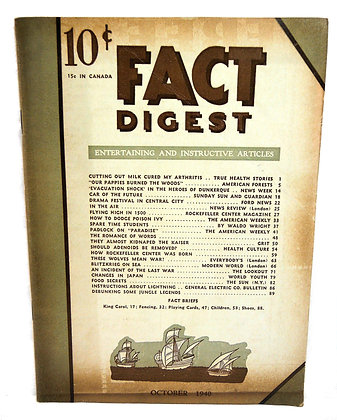 Rodale Fact Digest October 1940
