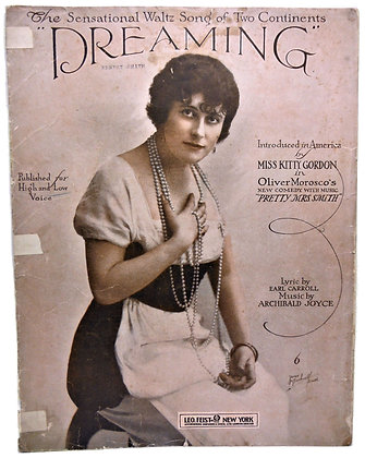 DREAMING Miss Kitty Gordon 1913
