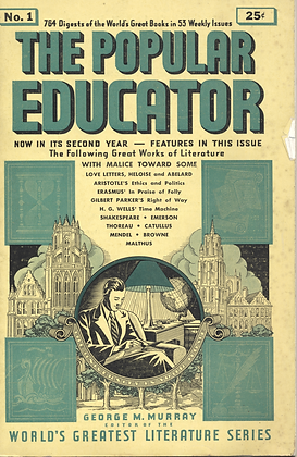 POPULAR EDUCATOR (#1, Second Year, 1939) WITH MALICE TOWARD SOME