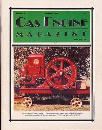 Gas Engine Mag.  December 1988