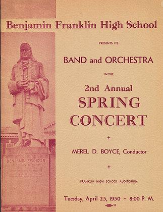 Benjamin Franklin HS Concert 1950 (Oregon)