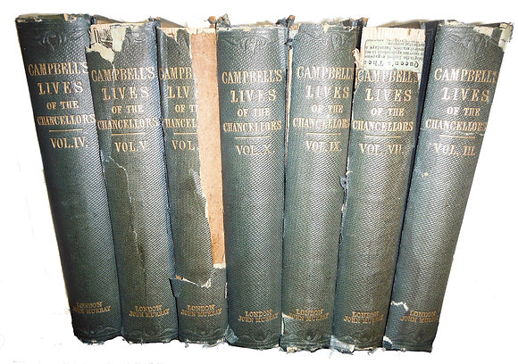 Lives of the Lord Chancellors of England by Campbell 1856