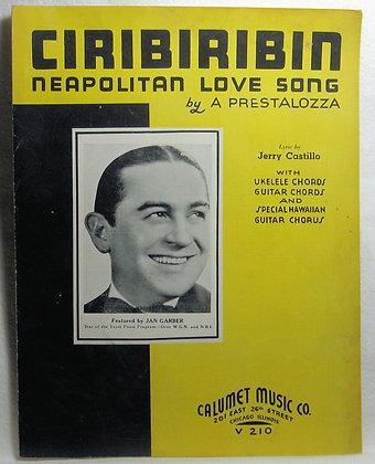 CIRIBIRIBIN NEAPOLITAN LOVE SONG 1935
