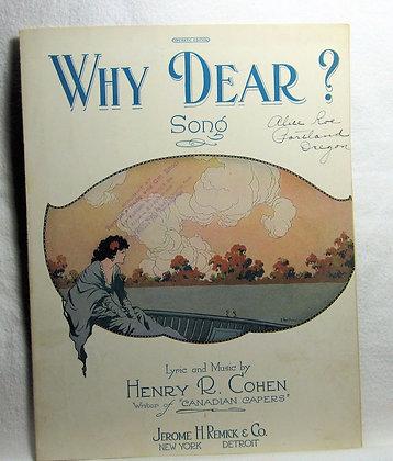 WHY DEAR? Song 1921