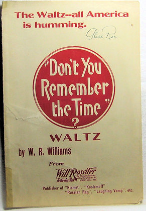Don't You Remember the Time? Waltz 1920