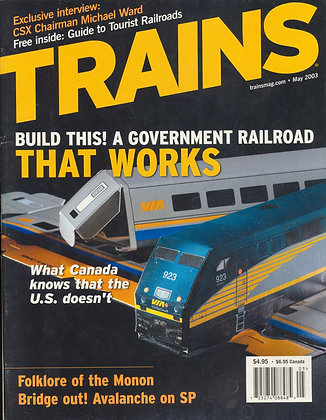 TRAINS, May 2003