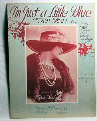 I'm Just a Little Blue (For You) song 1922