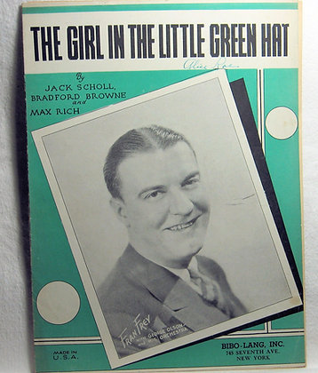 THE GIRL IN THE LITTLE GREEN HAT 1933