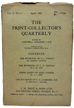 Print Collector's Quarterly April 1921