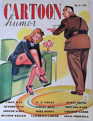 CARTOON humor Magazine (May 1942 - Vol. 5, No. 1) Collegian Press (WW2)