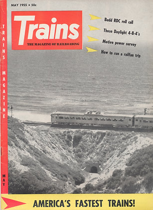 TRAINS, May 1955