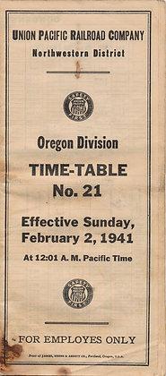 Union Pacific Railroad Co. 1941 Oregon (map)