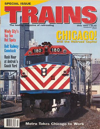 TRAINS, July 1993