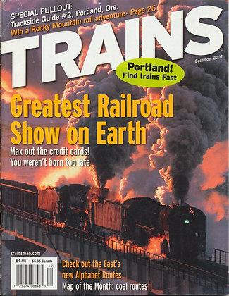 TRAINS, December 2002