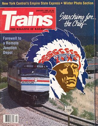 TRAINS, January 1992