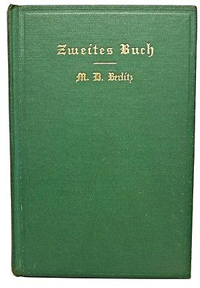 Zweites Buch by M. D. Berlitz 1930 (German) Language Book